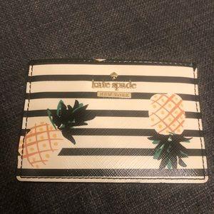 Kate Spade pineapple print card holder